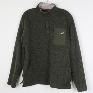 Woolrich Mock Turtleneck Pullover Sweater Pocket M